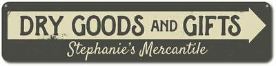 Personalized Dry Goods & Gifts Arrow Mercantile Company Store Sign ENSA1001954 - Party Good Store
