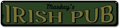 Irish Pub Sign, Personalized Bar Name Sign, St Patrick's Day Beer - -