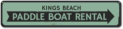 Custome Rental (Paddle Boat Rental Sign, Personalized Beach Arrow Sign, Custom Sign)