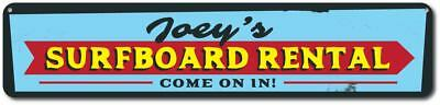 Surfboard Rental Sign, Personalized Surf Shop Arrow Sign, Custom - ENSA1001643 - Custome Rentals