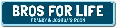 Bros For Life Sign, Custom Boy Brothers Name Bedroom Sign ENSA1002073 - Sign For Boy