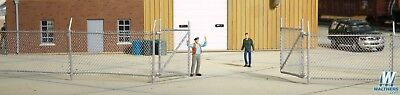 3125 Walthers Cornerstone Chain Link Fence with Gate HO Scale