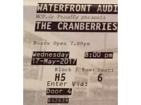 The Cranberries 2 Tickets 17.5.2017 Belfast £150 each