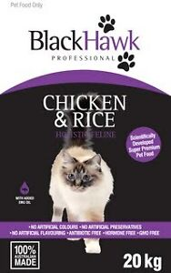 BLACKHAWK - (CAT) Feline Chicken & Rice 20kg Gordonvale Cairns City Preview