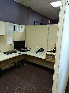 4 Office Cubicles ( includes desk and drawers)