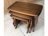 Ercol Coffee Tables Nest of Three