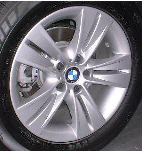 4 OEM bmw X5 rims 255/55/18 DUNLOP WINTER tires %99.99 tread