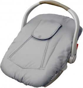 Jolly Jumper Arctic Sneak-a-Peek Infant Car Seat Cover - Grey