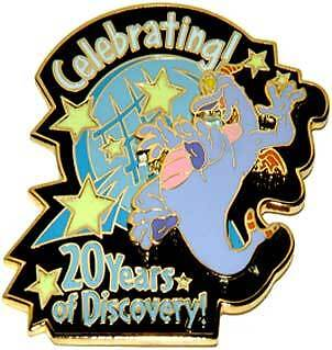 Disney Wdw Celebrating 20 Years Of Discovery Figment Pin