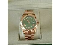 Rolex Day Date Presidential Gold Green, With Box, Papers