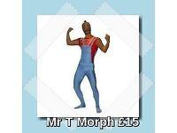Mr T A Team Lycra Morph Fancy Dress Costume