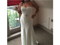 Next debut lace wedding dress