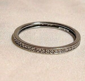 14k White Gold - approx .30tcw Diamond Eternity Ring/Size 9