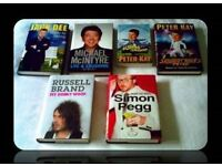 COMEDY BIOGRAPHIES - 6 BOOKS - FOR SALE