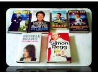 COMEDY BIOGRAPHIES - 6 BOOKS - HARDCOVER & PAPERBACK - FOR SALE