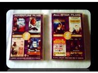 DVDS - ADVENTURE & ALL- STAR FILMS - (8 titles) - FOR SALE