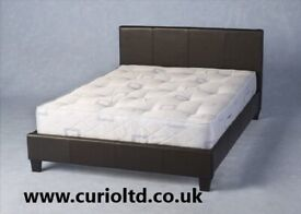 AVAILABLE TODAY New 4ft6 black faux leather double beds ONLY £125