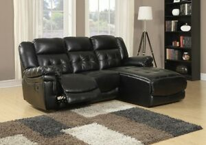 SOFA LOUNGER – MOTION / BLACK BONDED LEATHER