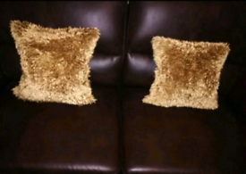 Gold sofa armchair cushion covers with inserts if wanted