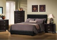 NEW LEATHER-LOOK QUEEN SIZE BED!!! OTHER SETS AVAILABLE!