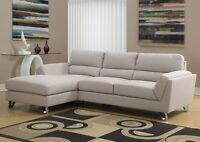 Liquidation fabric brown or sand color sectional