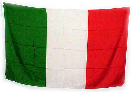 Italy Flag, 5 ft. x 3 1/3 ft., Made in Italy