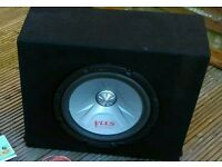 """Pioneer 12"""" inch subwoofer and box"""