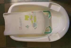 Bily large baby bath tub with sling seat