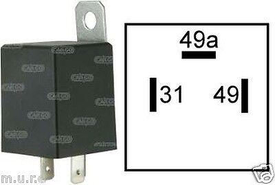 ELECTRONIC FLASHER UNIT RELAY INDICATORS 6V FOR LIGHT TURN SIGNAL 3 PIN 160651