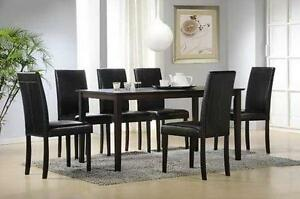 7PC SOLID WOOD DINING ROOM SET $399 LOWEST PRICES