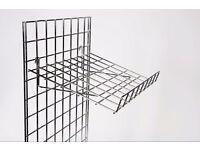 Gridwall Panels, Hooks, Shelves and Brackets