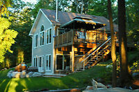 Large Luxury Waterfront Cottage with Hot Tub