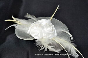 Brand new Beautiful feather fascinator hair clip hair band