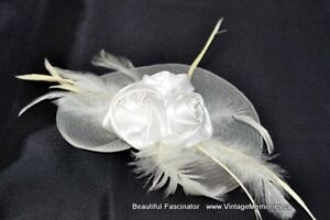 Brand new Beautiful Faux Mesh Hats, feather fascinator hair clip
