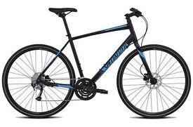 Specialized Sirrus Sport Disc - 2016 Hybrid Bike. Black / Blue. Shimano Hydraulic Disc's & Gears.