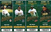 Oakland A'S Ticket Stub