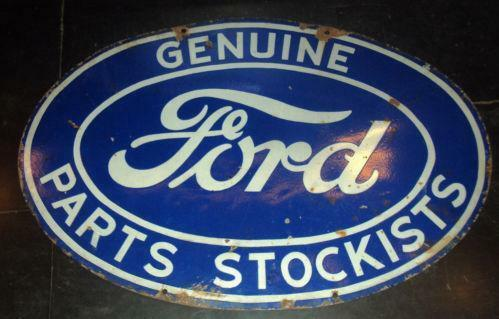 original vintage ford signs ebay. Black Bedroom Furniture Sets. Home Design Ideas