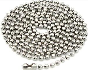 10 Stainless Steel Ball Chains 30