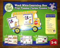 Leap Frog Word Whiz learning Bus tray puzzles for sale