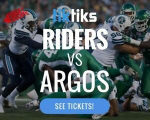 Riders vs Argos Tickets Sat July 29th at Mosaic Stadium - Buy in CAD$