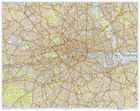 Knowledge Taxi Map Green Badge Large Laminated Gloss Map
