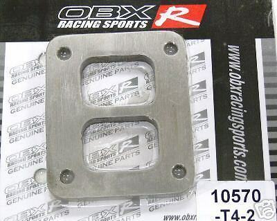 OBX T4 T04 Divided Turbo Inlet FlangeFits All T04 GT40