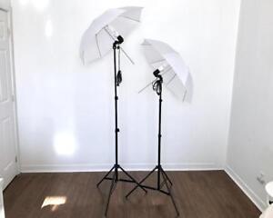 Lumière Parapluie Éclairage PRO de Studio pour Photo Video Umbrella Light Lighting Kit 2028