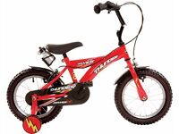 Dawes Thunder Unisex child's bike 14 inch with stabilisers