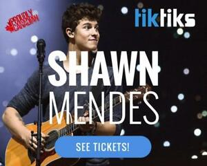 Shawn Mendes Concert Tickets live at the Bell Centre August 14th