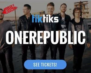 OneRepublic Concert Tickets live at the SaskTel Centre August 17th
