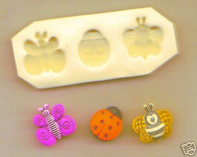 3 in 1 Handmade Polymer Clay Molds Bee, Lady bug, Butterfly