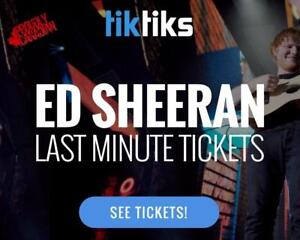 Ed Sheeran Concert LAST MINUTE TICKETS TONIGHT! Starting at $49!