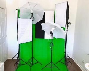 Parapluie et Softbox Diffuseur Éclairage Lumière PRO de Studio Photo Video Umbrella Softbox Light Parapluie Kit 2031