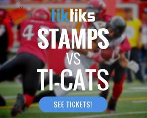 Stampeders vs Tiger-Cats Tickets Sat July 29th at McMahon Stadium - Buy local in CAD$